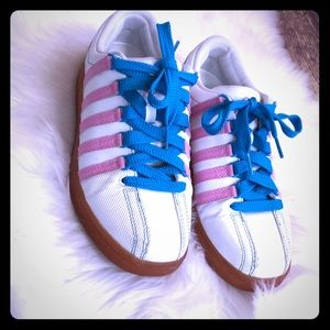 K•SWISS women's pink and blue sneakers size 8